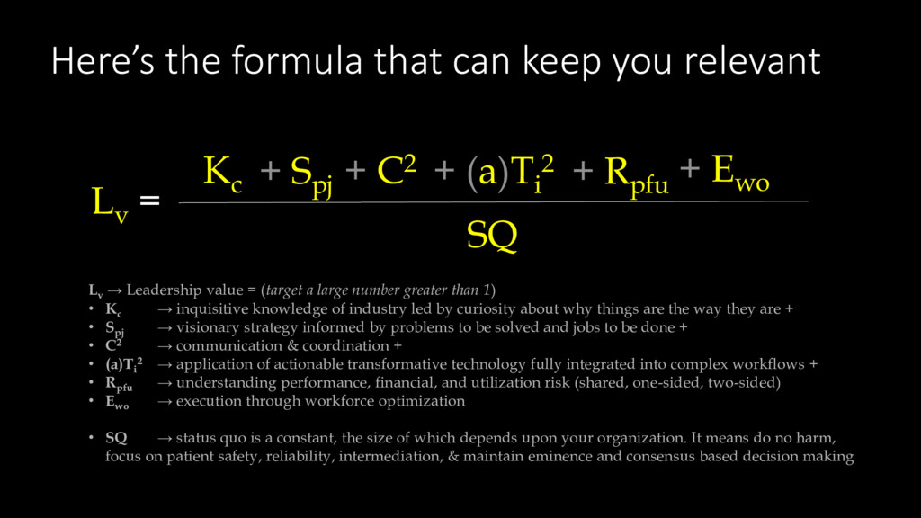 Here's the formula that can keep you relevant L...