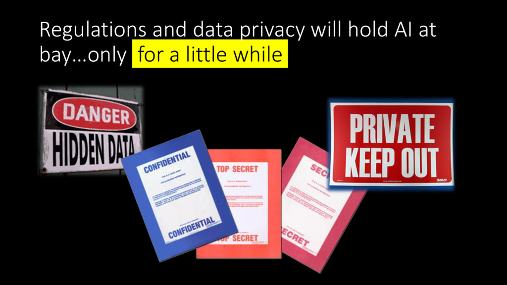 Regulations and data privacy will hold AI at ba...