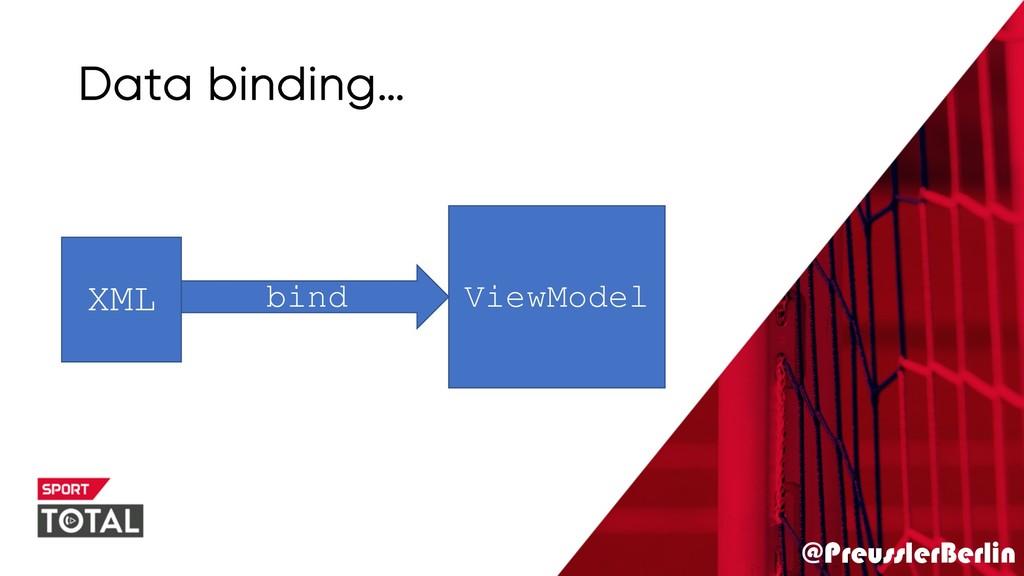 @PreusslerBerlin Data binding… XML ViewModel bi...