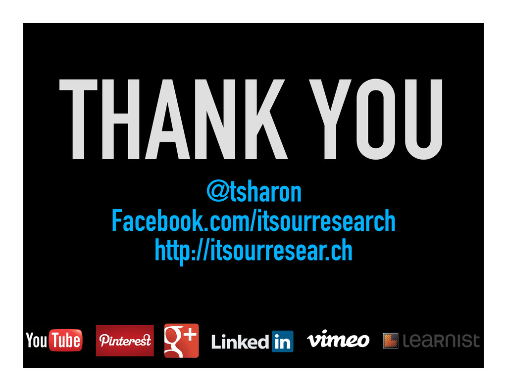 THANK YOU @tsharon Facebook.com/itsourresearch ...
