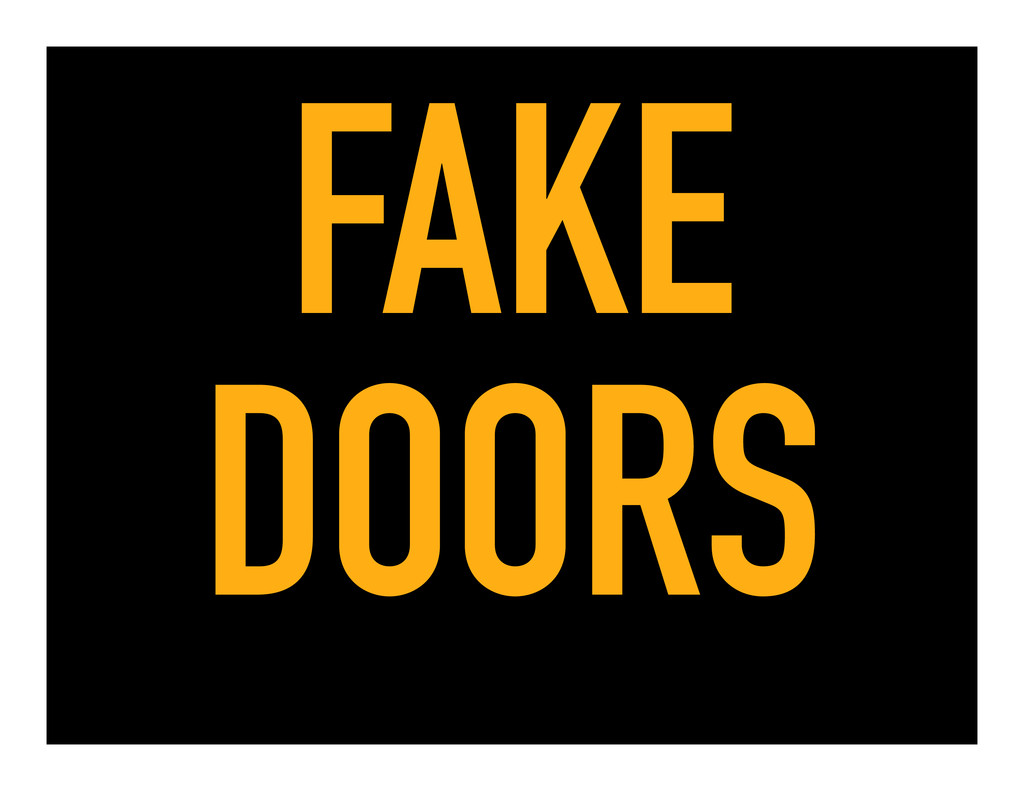 FAKE DOORS