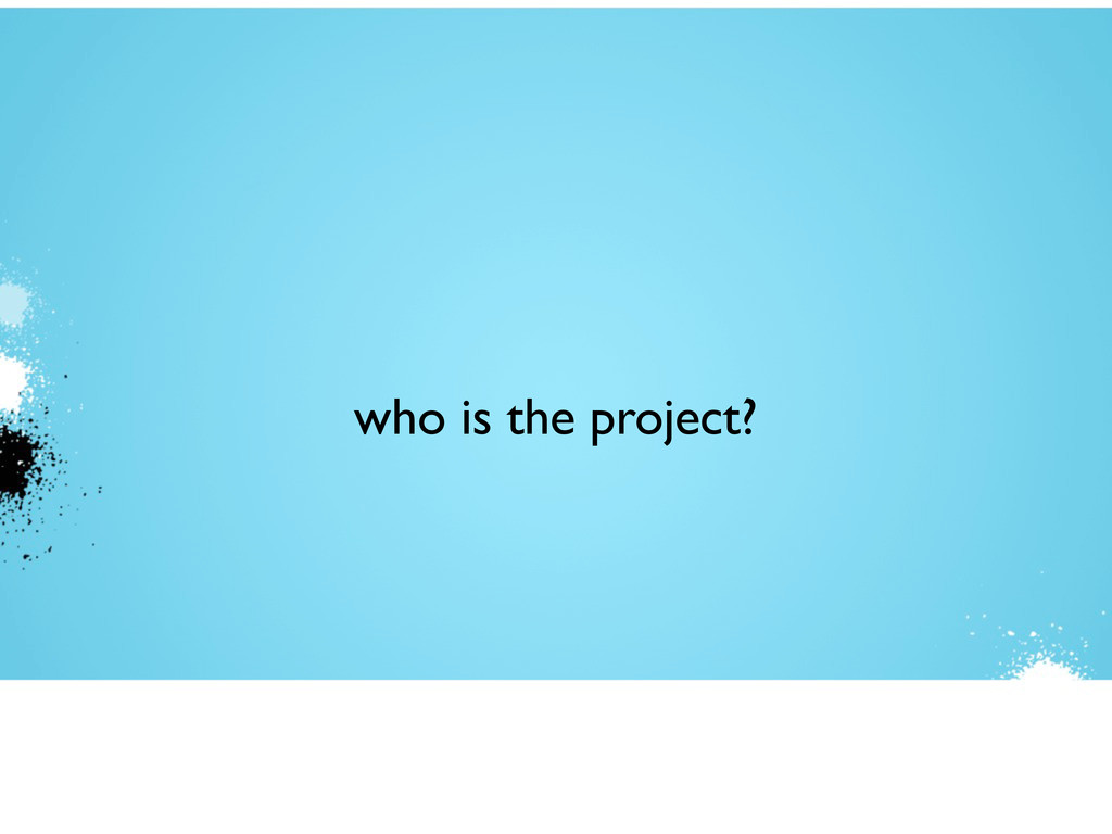 who is the project?