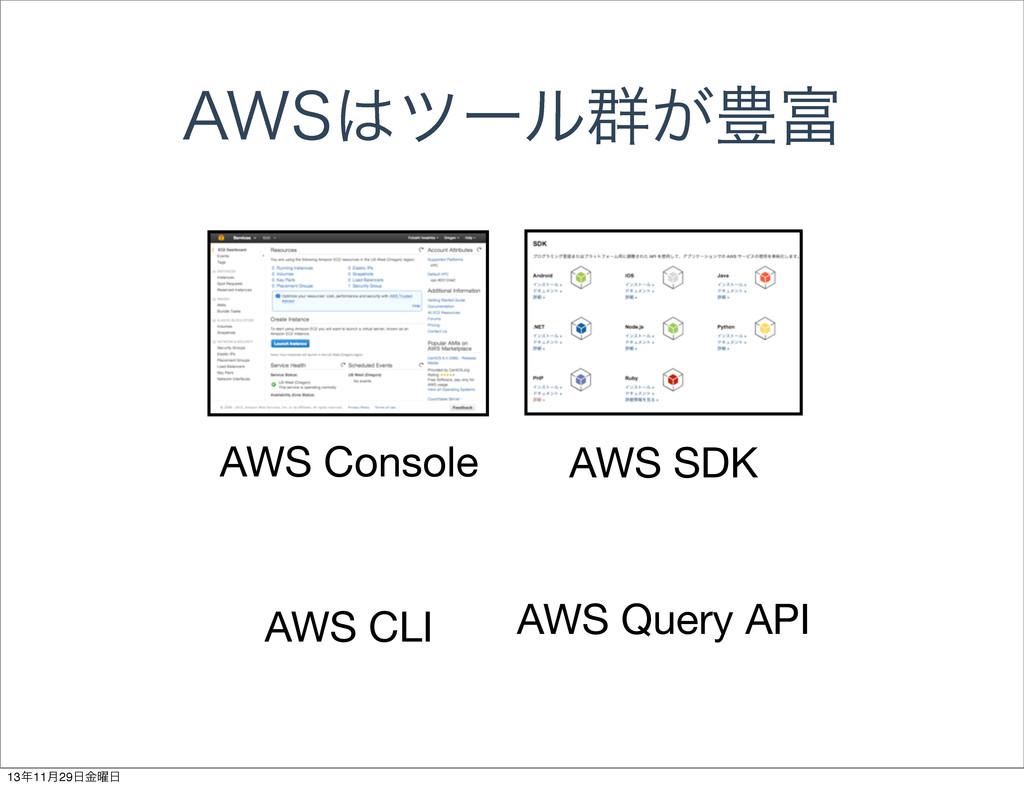 """84πʔϧ܈͕๛ AWS Console AWS SDK AWS CLI AWS Que..."