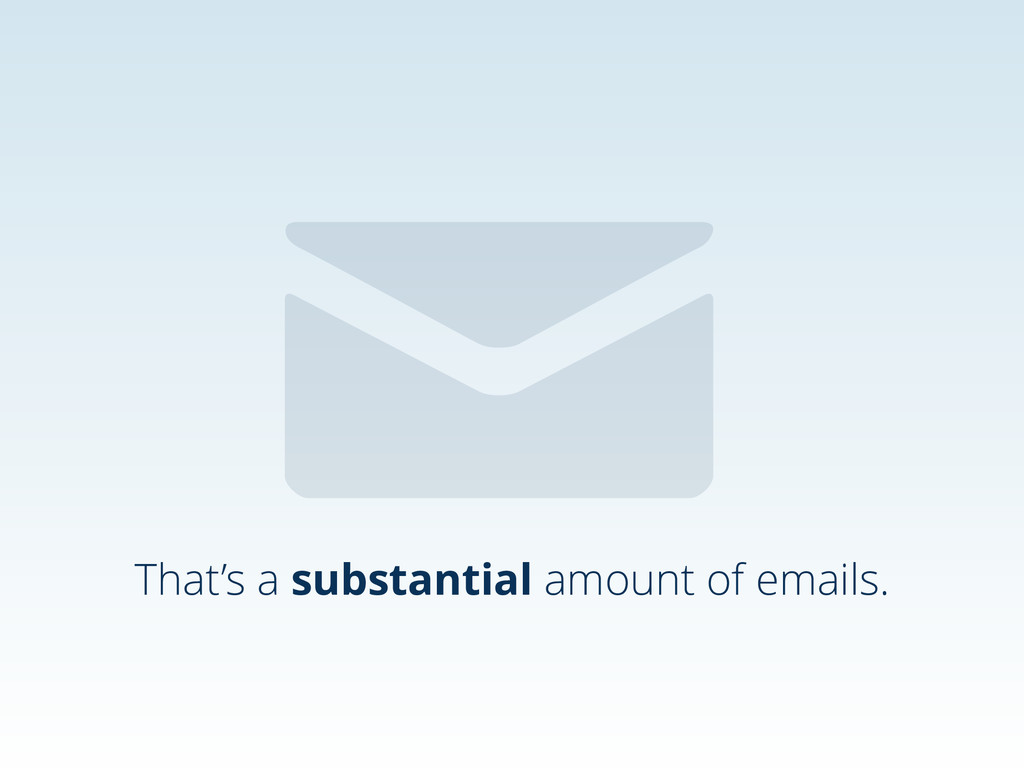 That's a substantial amount of emails. ✉