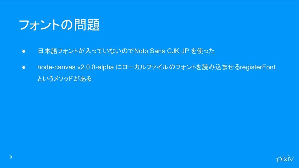 ● 日本語フォントが入っていないので Noto Sans CJK JP を使った ● node...