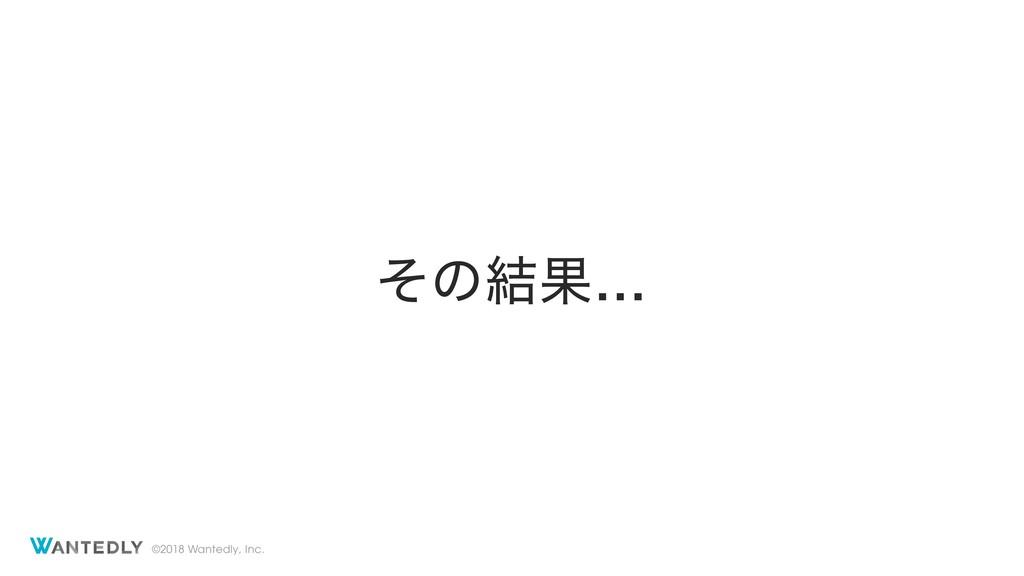 ©2018 Wantedly, Inc. ͦͷ݁Ռ…