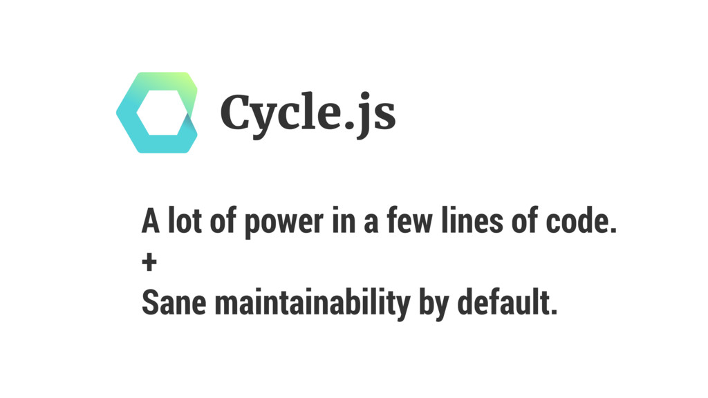 A lot of power in a few lines of code. + Sane ...