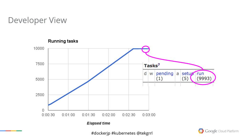 #dockerjp #kubernetes @tekgrrl Developer View