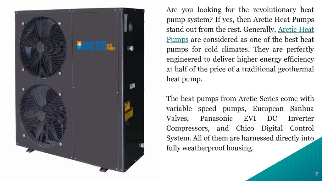 Are you looking for the revolutionary heat pump...