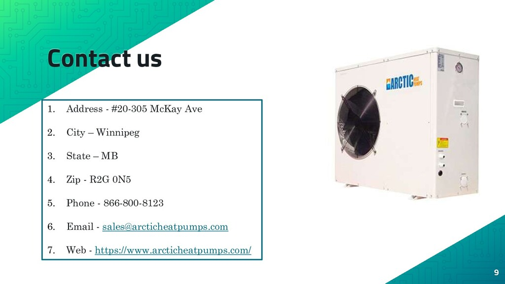 Contact us 9 1. Address - #20-305 McKay Ave 2. ...