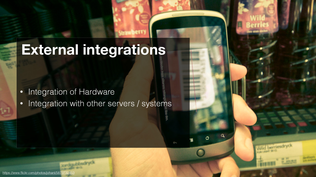 • Integration of Hardware • Integration with ot...