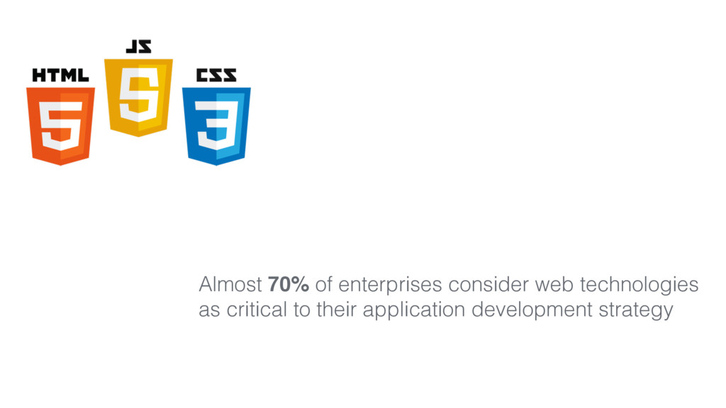 Almost 70% of enterprises consider web technolo...