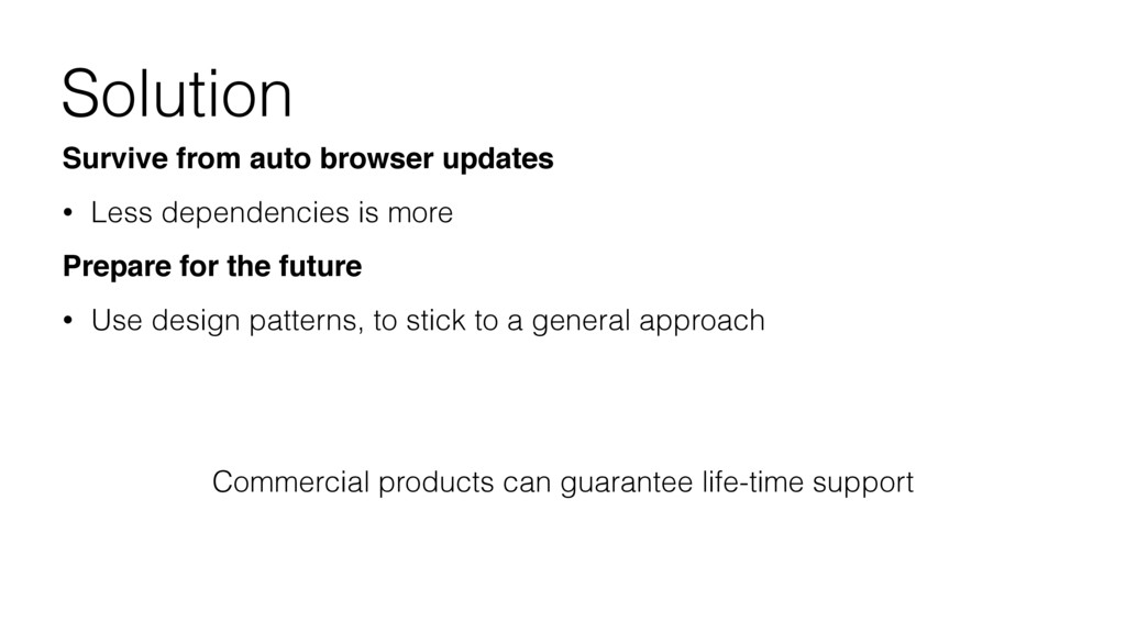 Solution Survive from auto browser updates • Le...