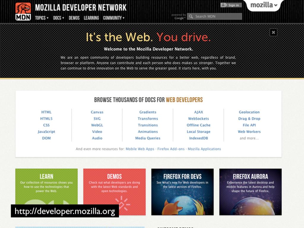 http://developer.mozilla.org