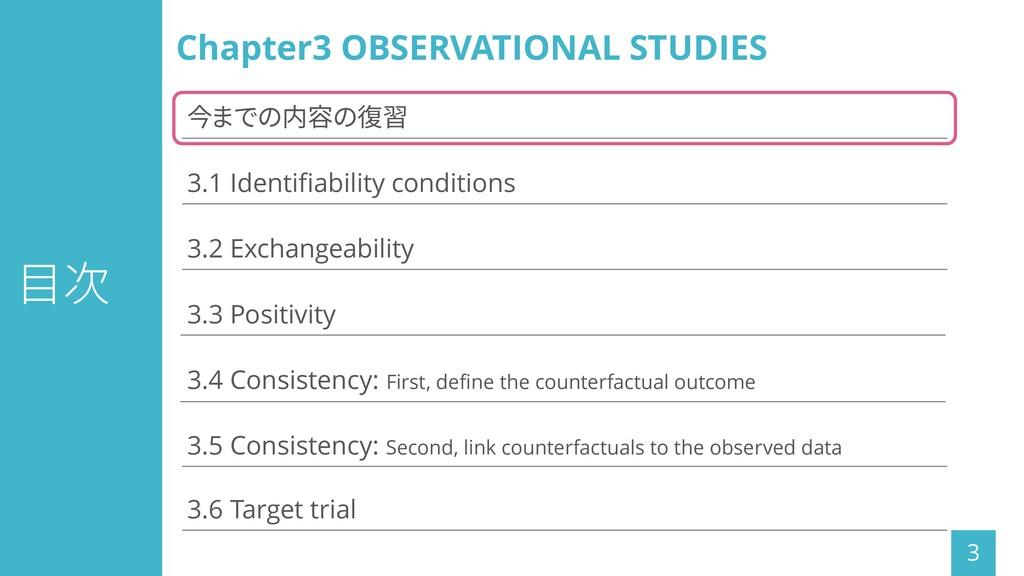 目次 3 3.1 Identifiability conditions 3.3 Positiv...