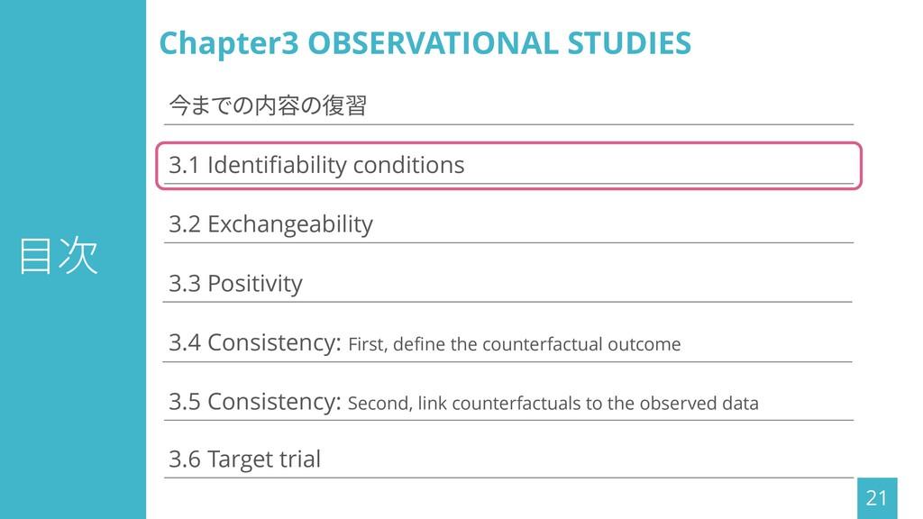 目次 21 3.1 Identifiability conditions 3.3 Positi...