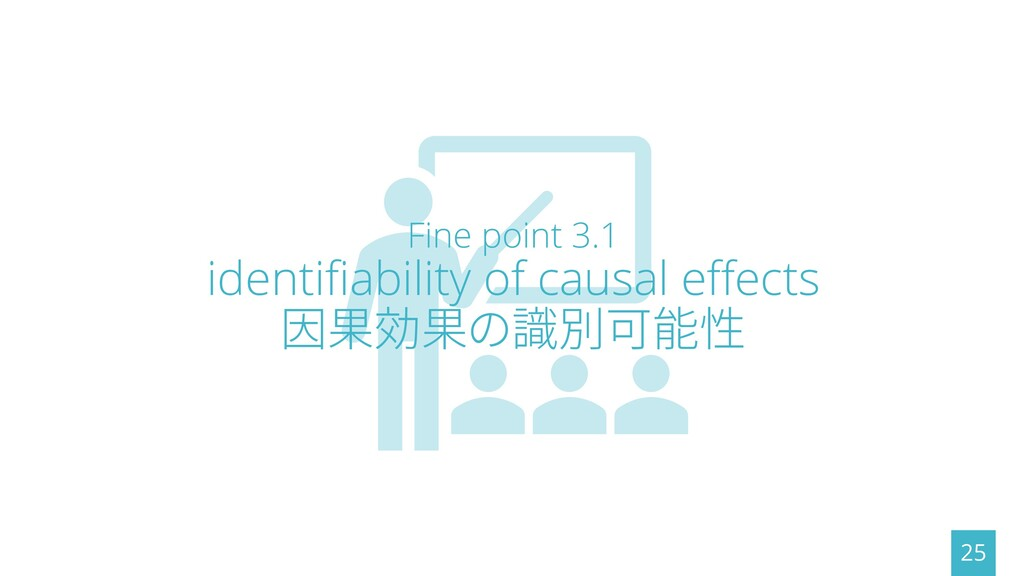 Fine point 3.1 identifiability of causal effect...