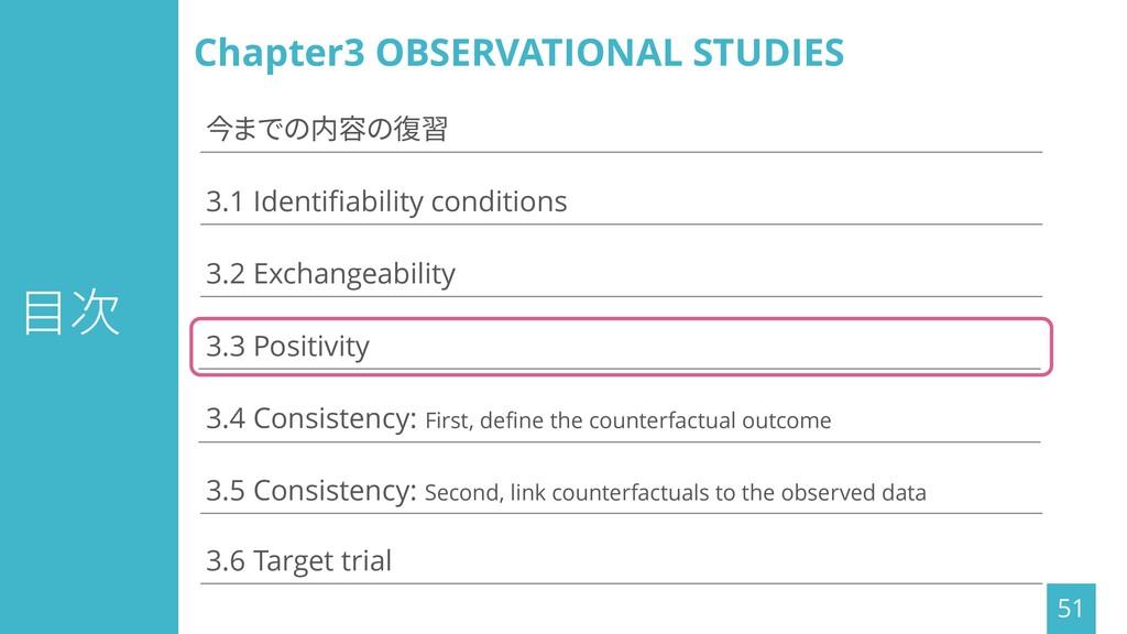 目次 51 3.1 Identifiability conditions 3.3 Positi...