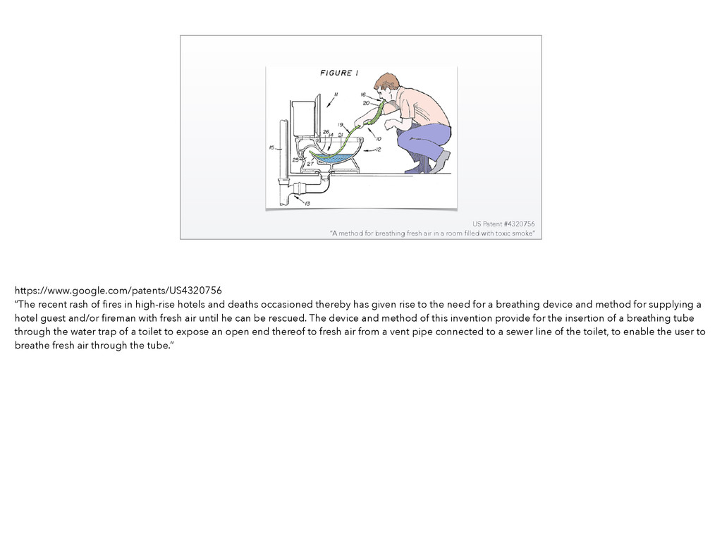 """US Patent #4320756 """"A method for breathing fres..."""