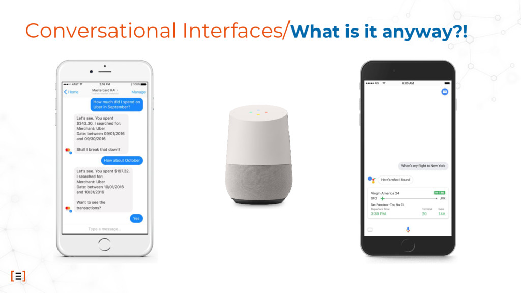 Conversational Interfaces/What is it anyway?!