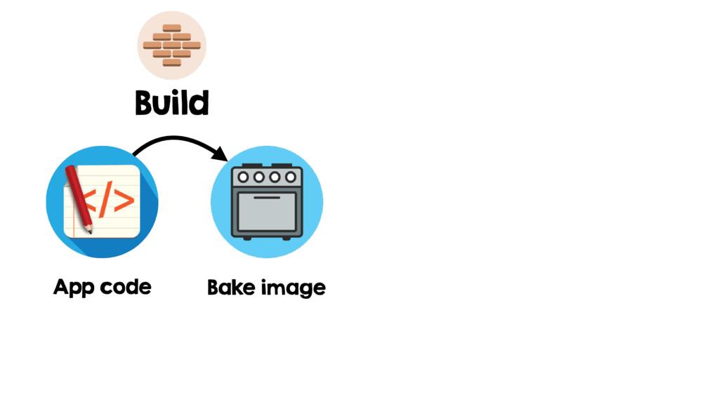 App code Bake image Build