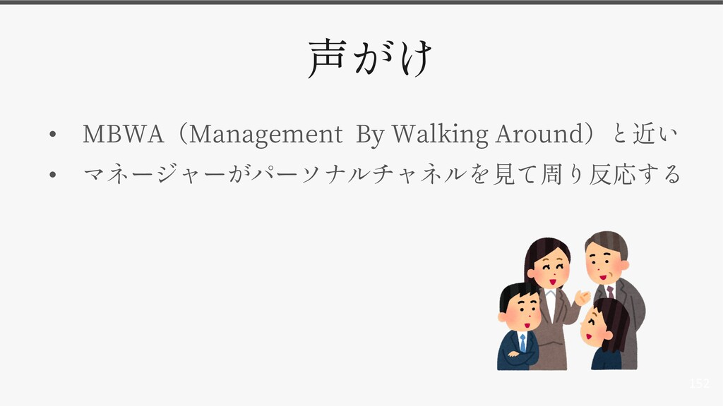 152 • MBWA Management By Walking Around •