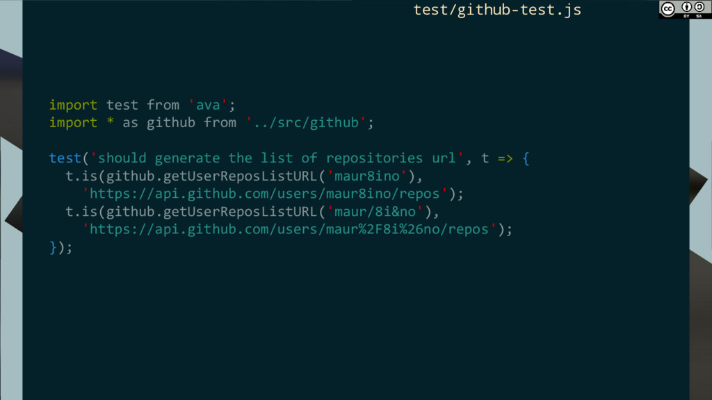 import test from 'ava'; import * as github from...