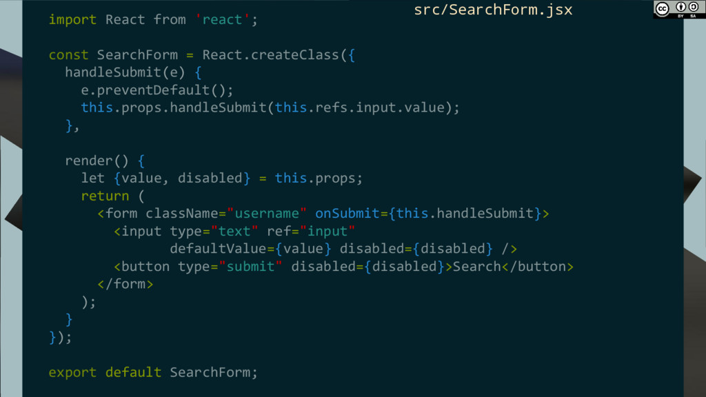 import React from 'react'; const SearchForm = R...