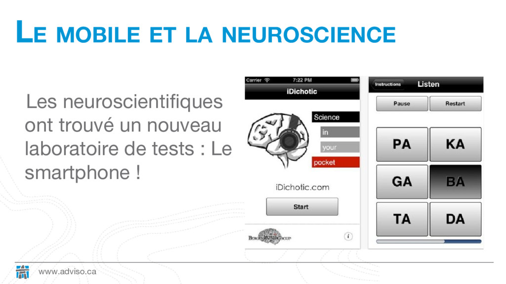 www.adviso.ca LE MOBILE ET LA NEUROSCIENCE Les ...