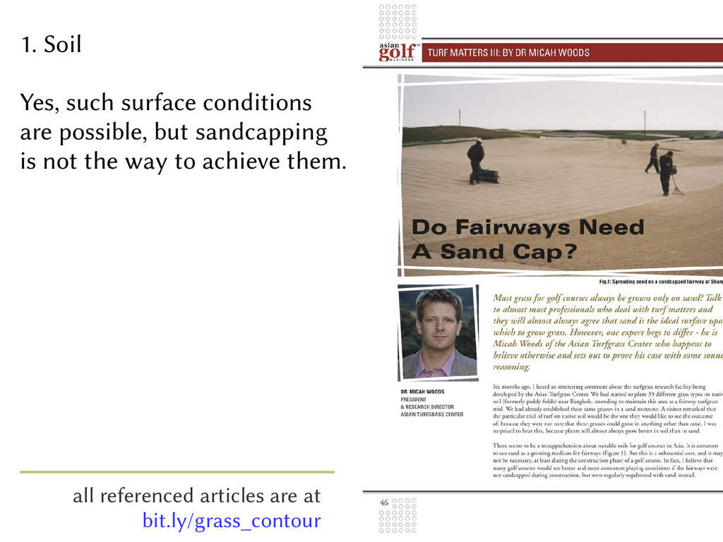 1. Soil Yes, such surface conditions are possib...