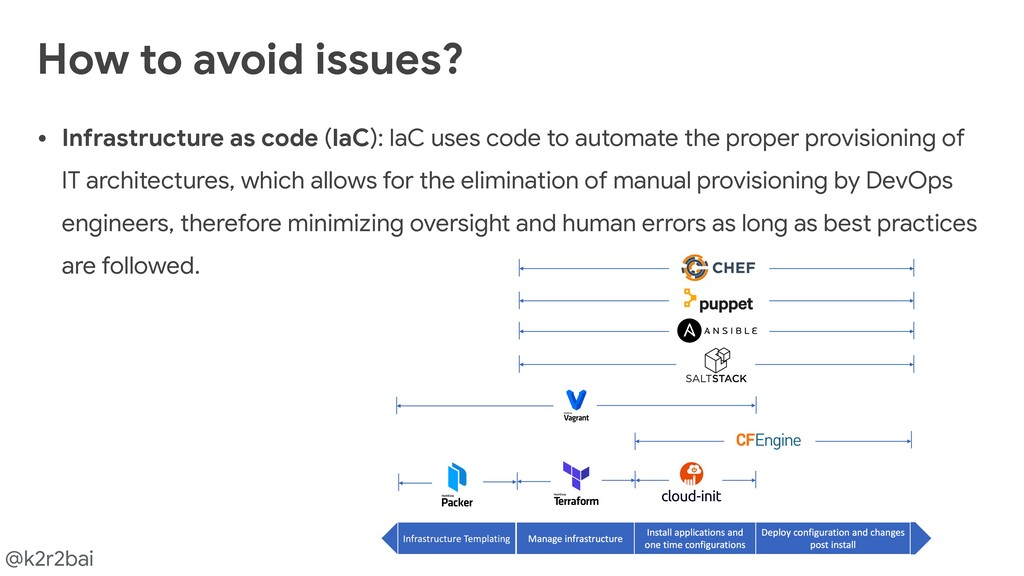 @k2r2bai • Infrastructure as code (IaC): IaC us...