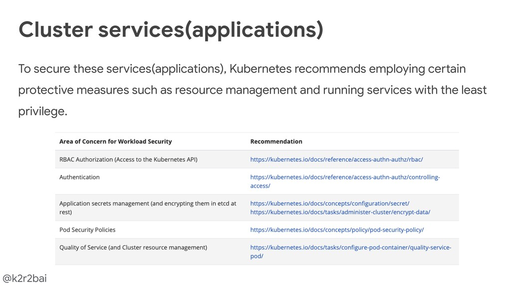 @k2r2bai To secure these services(applications)...