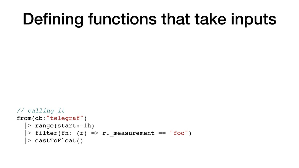 Defining functions that take inputs // calling i...
