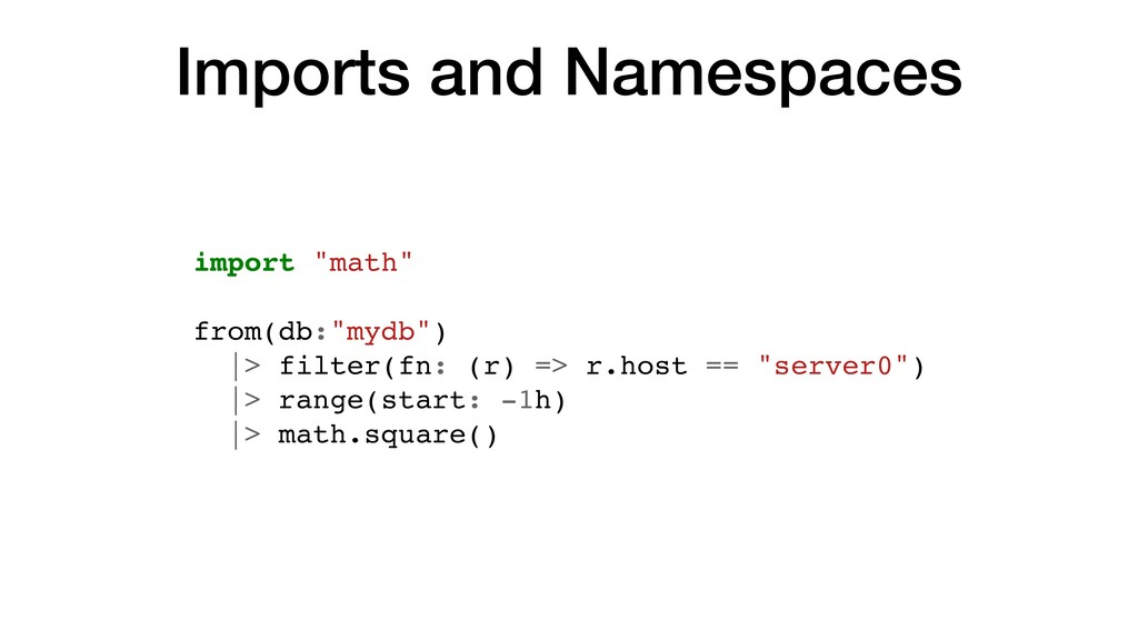 """Imports and Namespaces import """"math"""" from(db:""""m..."""