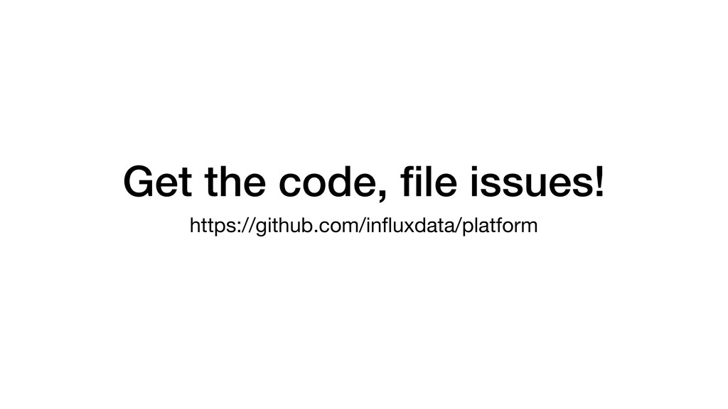 Get the code, file issues! https://github.com/in...