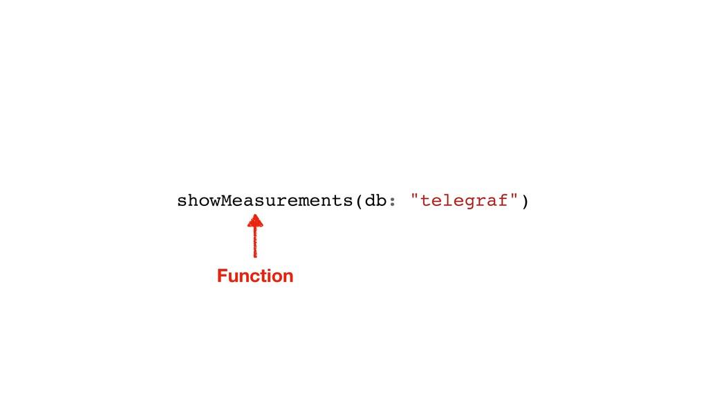 "showMeasurements(db: ""telegraf"") Function"