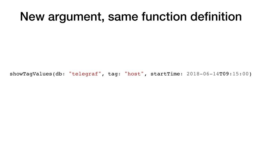 New argument, same function definition showTagVa...
