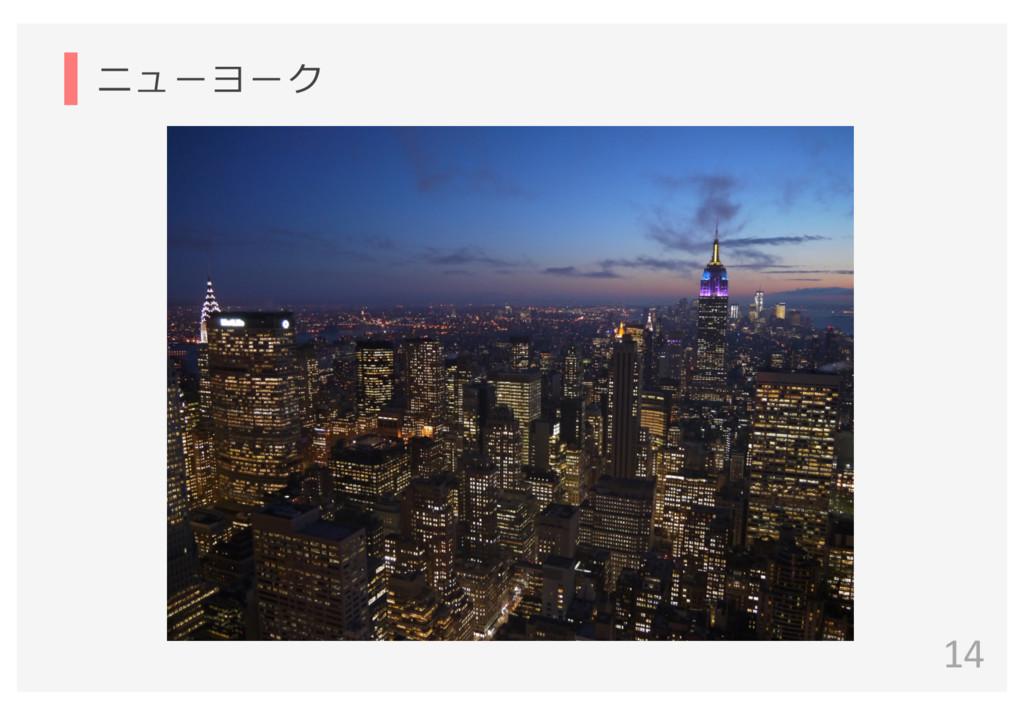 ニューヨーク 14
