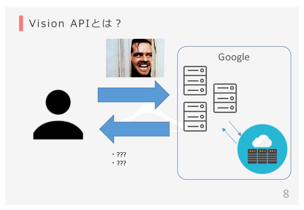Vision APIとは? 8 Google ・??? ・???