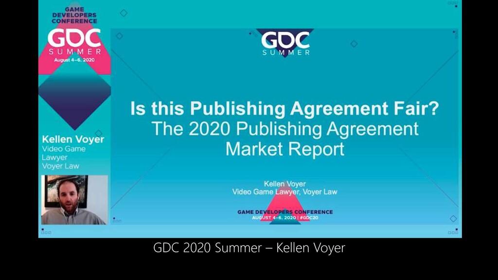 GDC 2020 Summer – Kellen Voyer
