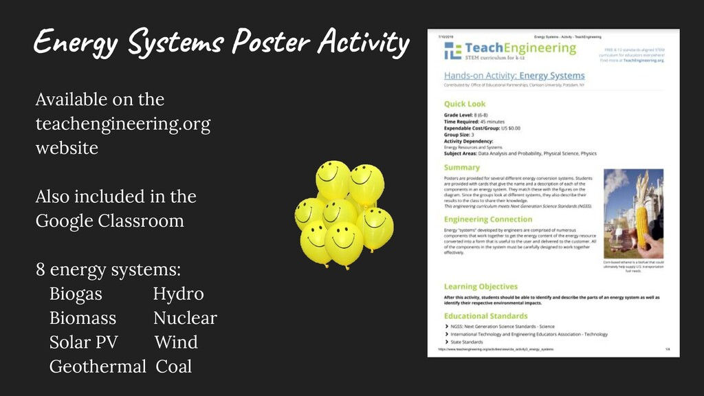 Ene rgy Syste m s Poste r Activity Available on...