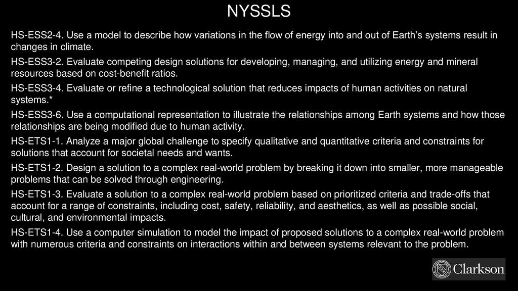 NYSSLS HS-ESS2-4. Use a model to describe how v...