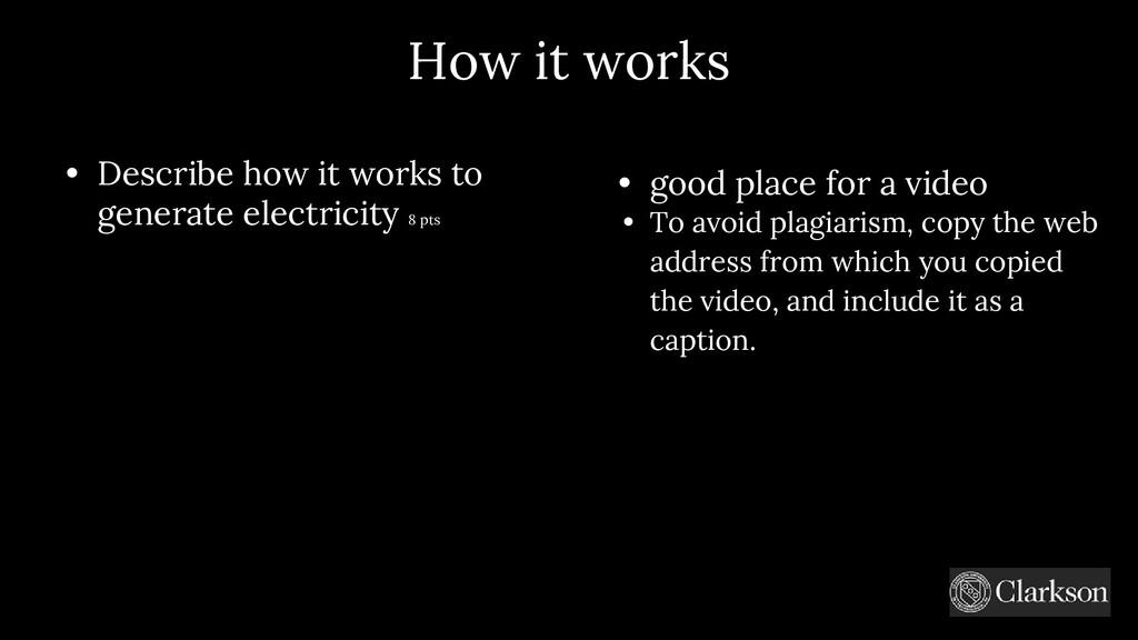 How it works • Describe how it works to generat...