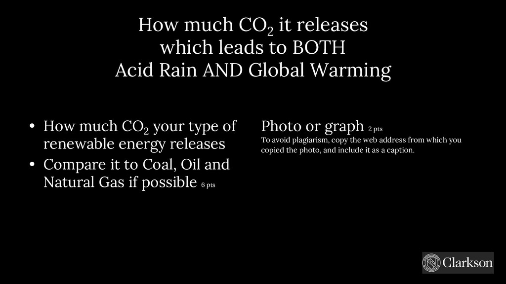 How much CO 2 it releases which leads to BOTH A...