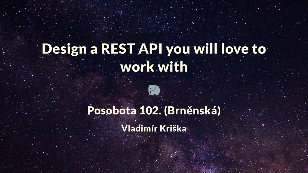 Design a REST API you will love to work with Po...