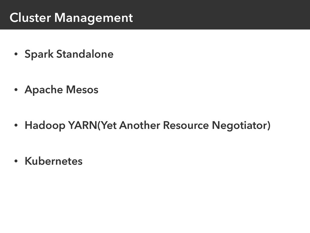 Cluster Management • Spark Standalone • Apache ...
