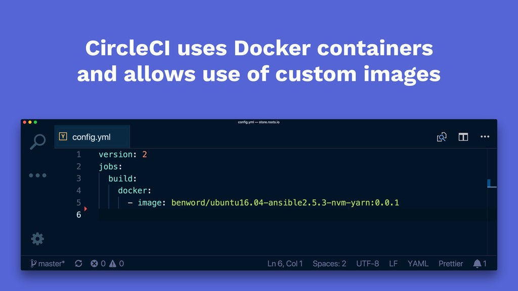 CircleCI uses Docker containers and allows use ...