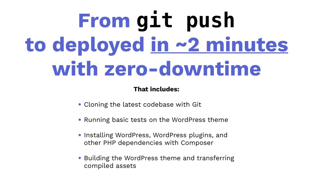From git push to deployed in ~2 minutes with ze...