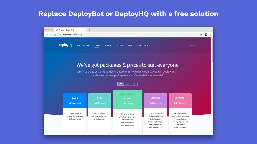 Replace DeployBot or DeployHQ with a free solut...