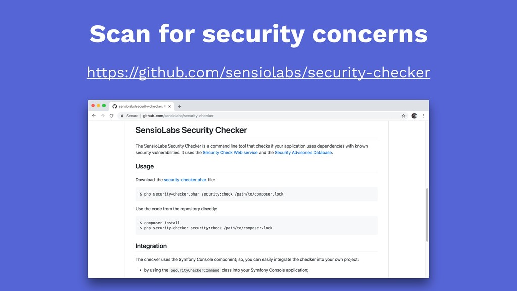 Scan for security concerns https://github.com/s...